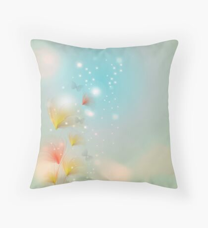 Blossom with bokeh effect Throw Pillow