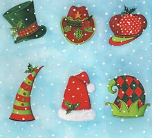 Christmas Hats by lizblackdowding