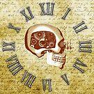 Vintage Steampunk Clock No.6, Steampunk Automaton Skull by Steve Crompton