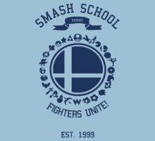 Smash School United (Blue) T-Shirt