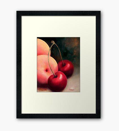 CHERRY PEACH Framed Print