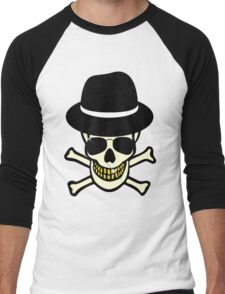 Halloween Skull Hipster Men's Baseball ¾ T-Shirt