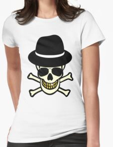 Halloween Skull Hipster Womens Fitted T-Shirt