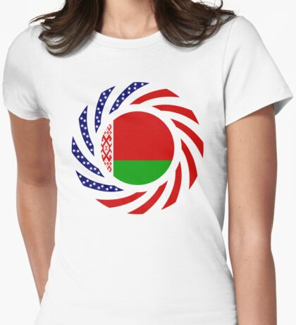 Belarusian American Multinational Patriot Flag Series Womens Fitted T-Shirt
