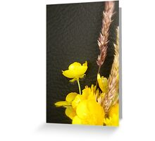 WILDFLOWERS - YELLOW BUTTERCUPS Greeting Card