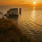 Sunrise Old Harry Rocks by Ian Middleton