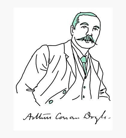 Minimalist Arthur Conan Doyle Photographic Print