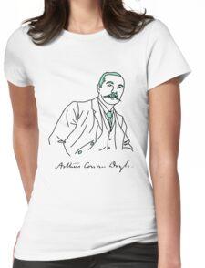 Minimalist Arthur Conan Doyle Womens Fitted T-Shirt