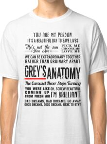 All in one Grey's Anatomy Quotes  Classic T-Shirt