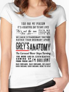 All in one Grey's Anatomy Quotes  Women's Fitted Scoop T-Shirt