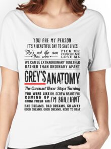 All in one Grey's Anatomy Quotes  Women's Relaxed Fit T-Shirt