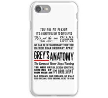 All in one Grey's Anatomy Quotes  iPhone Case/Skin