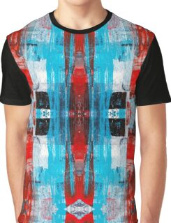 Modern Turquoise Abstract Graphic T-Shirt