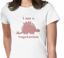 Vegetarian Stegosaurus Dinosaur  Womens Fitted T-Shirt