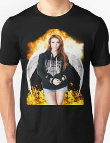 Random Model with Wings and fire T-Shirt