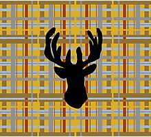 rural stag check Photographic Print