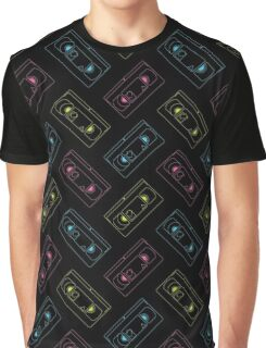 VHS outlines (black) Graphic T-Shirt