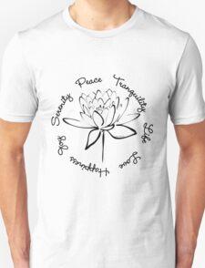 Serenity Tranquility Lotus (Black) Unisex T-Shirt
