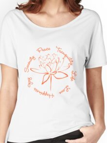 Serenity Tranquility Lotus (Orange) Women's Relaxed Fit T-Shirt