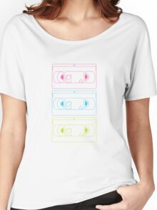 VHS outlines (white) Women's Relaxed Fit T-Shirt