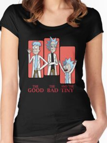 Good Rick. Bad Rick. And The Tiny Rick! Women's Fitted Scoop T-Shirt