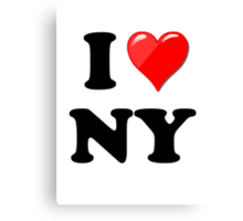 I Love New York State Canvas Print