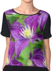 Clematis Flower Chiffon Top
