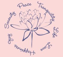 Serenity Tranquility Lotus (Blue) Baby Tee