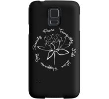 Serenity Tranquility Lotus (White) Samsung Galaxy Case/Skin