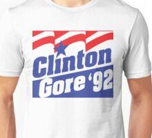 Clinton Gore '92 Liberal Democrat Presidential Logo 1992 Unisex T-Shirt