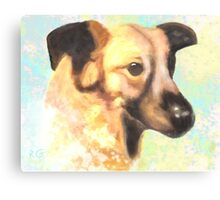 Water Color Dog Portrait  Canvas Print