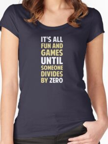 Dividing By Zero Is Not A Game Women's Fitted Scoop T-Shirt