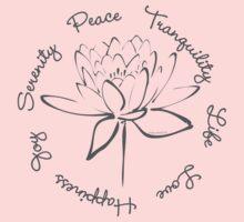 Serenity Tranquility Lotus (Smoke Grey) Kids Clothes