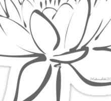 Serenity Tranquility Lotus (Smoke Grey) Sticker