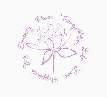 Serenity Tranquility Lotus (Lavender) Unisex T-Shirt