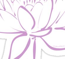 Serenity Tranquility Lotus (Lavender) Sticker