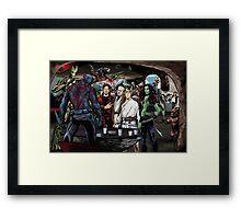 Guardians In A Galaxy Far, Far Away  Framed Print
