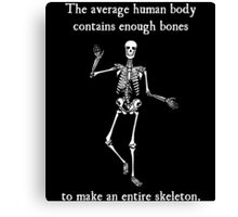 Skeleton Bones in the Average Human Body Canvas Print
