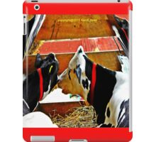 Abstract cows iPad Case/Skin