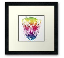 butterflyed skull Framed Print