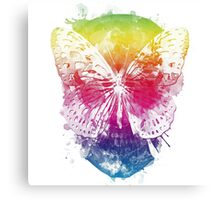 butterflyed skull Canvas Print