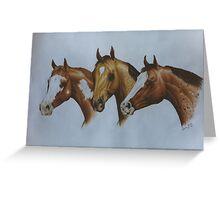 Western Breeds Greeting Card