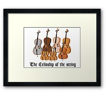 The Celloship of the String Framed Print