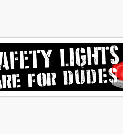 Ghostbusters: Safety Lights are for Dudes Sticker Sticker