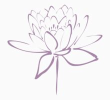 Lotus Flower Calligraphy (Lavender) Kids Clothes