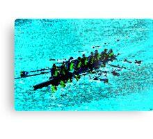 Rowing over blue waters Metal Print
