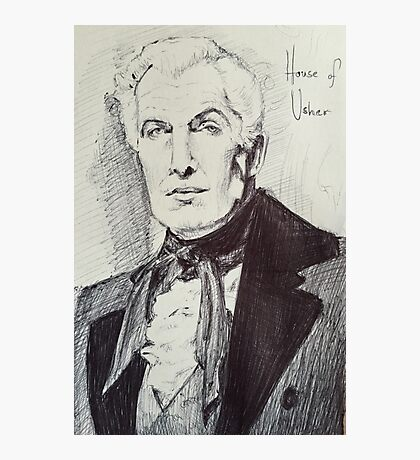 Vincent Price House of Usher Photographic Print