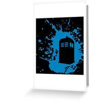 TARDIS Splat Greeting Card