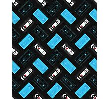 VHS Mixed pattern (black) Photographic Print