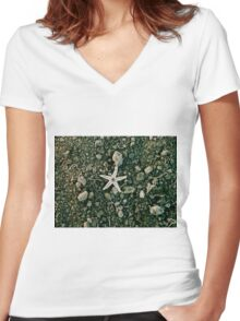 Lonely Starfish Women's Fitted V-Neck T-Shirt